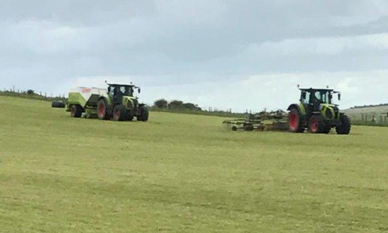 Haylage baling has begun...
